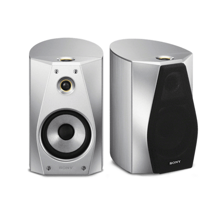 High-Resolution Audio Stereo Bookshelf Speakers (Silver), , product-image