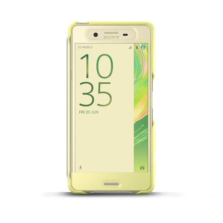 Style Cover Touch SCR56 for Xperia X Performance (Lime Gold), , hi-res