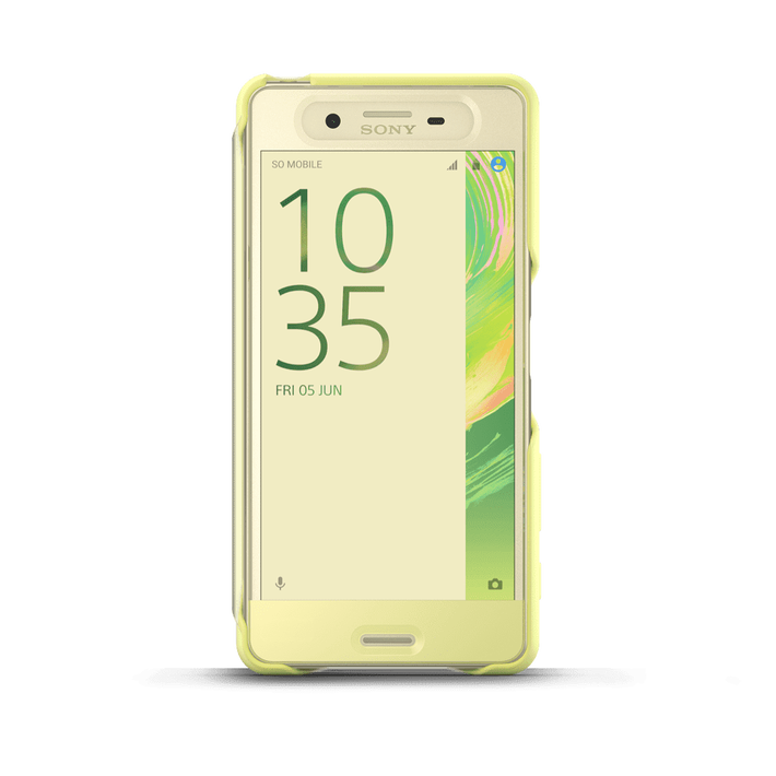 Style Cover Touch SCR56 for Xperia X Performance (Lime Gold), , product-image