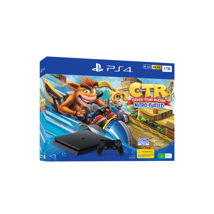 PlayStation4 Slim 1TB Console with Crash Team Racing Nitro-Fueled Bundle, , product-image