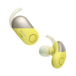 Wireless Noise Cancelling Headphones for Sports (Yellow), , hi-res