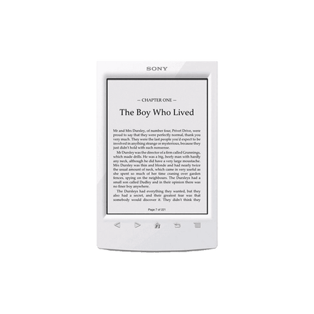 T2 Reader with 6.0 Paper-Like Touch Screen with Complimentary Harry Potter Ebook (White)