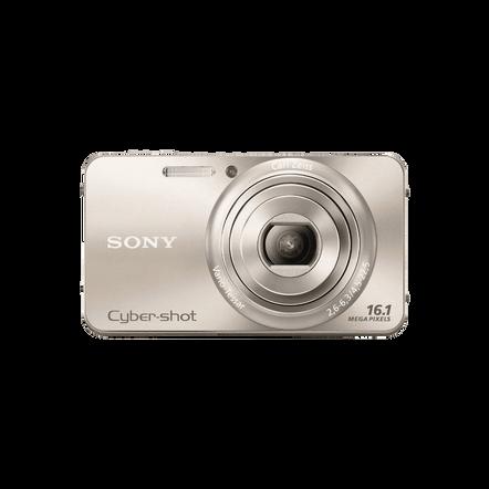 16.1 Megapixel W Series 5X Optical Zoom Cyber-shot Compact Camera (Gold), , hi-res
