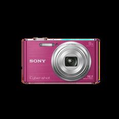 16.1 Megapixel W Series 8X Optical Zoom Cyber-shot Compact Camera (Pink)