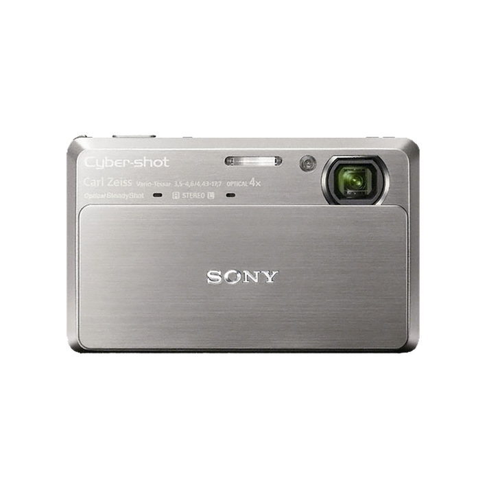 10.2 Megapixel T Series 4X Optical Zoom Cyber-shot Compact Camera (Silver), , product-image