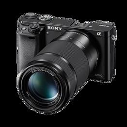 a6000 Digital E-Mount 24.3 Mega Pixel Camera with SELP1650 and SEL55210 Lens