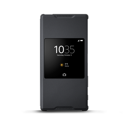Style Cover Stand SCR46 for Xperia Z5 Premium (Graphite Black), , hi-res