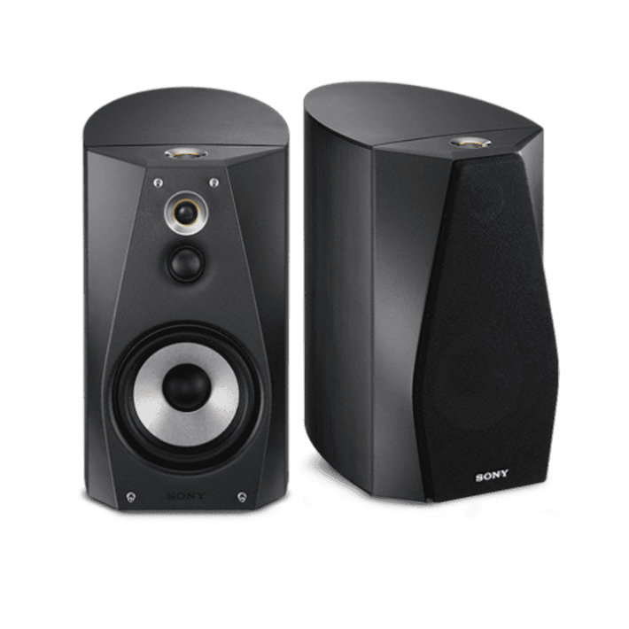 High-Resolution Audio Stereo Bookshelf Speakers (Black), , product-image