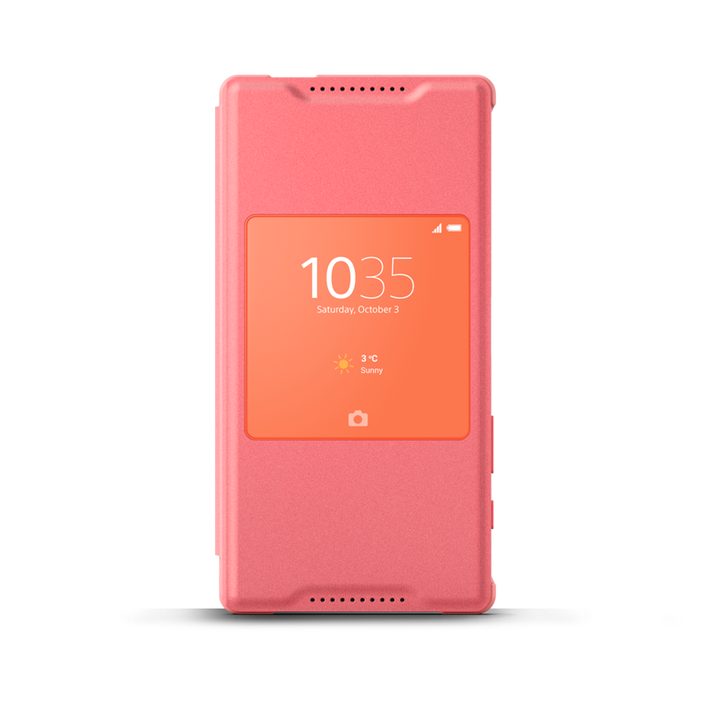 Smart Cover Stand SCR44 for Xperian Z5 Compact (Coral), , product-image