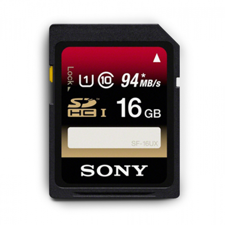 16GB SDHC UHS-1 Class 10 Memory Card UX Series, , hi-res