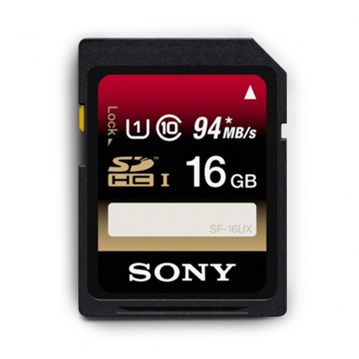 16GB SDHC UHS-1 Class 10 Memory Card UX Series, , product-image