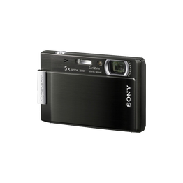 8.1 Megapixel T Series 5X Optical Zoom Cyber-shot Compact Camera (Black), , hi-res