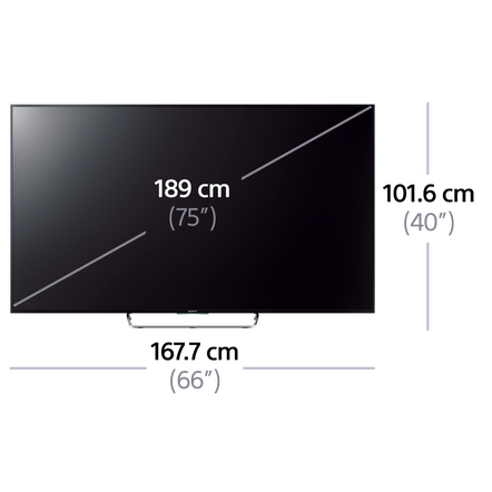 """75"""" W850C Series Full HD & LED LCD with Android TV"""