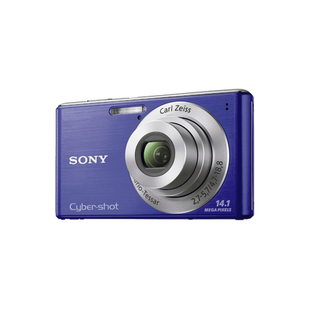 14.1 Megapixel W Series 4X Optical Zoom Cyber-shot Compact Camera (Blue), , hi-res