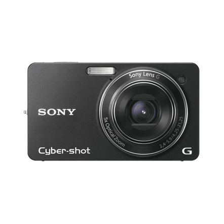10.2 Megapixel W Series 5X Optical Zoom Cyber-shot Compact Camera (Black), , hi-res