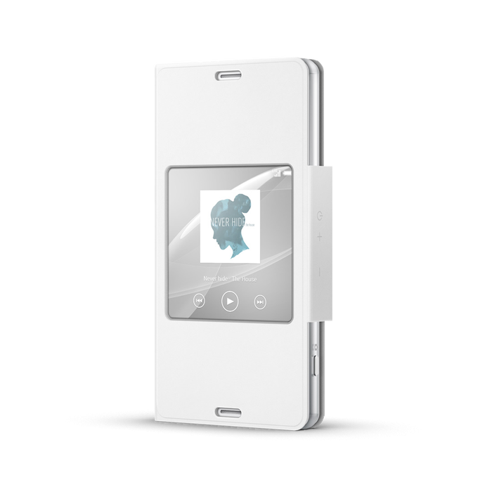 Style Cover with Smart Window for Xperia Z3 Compact (White), , product-image