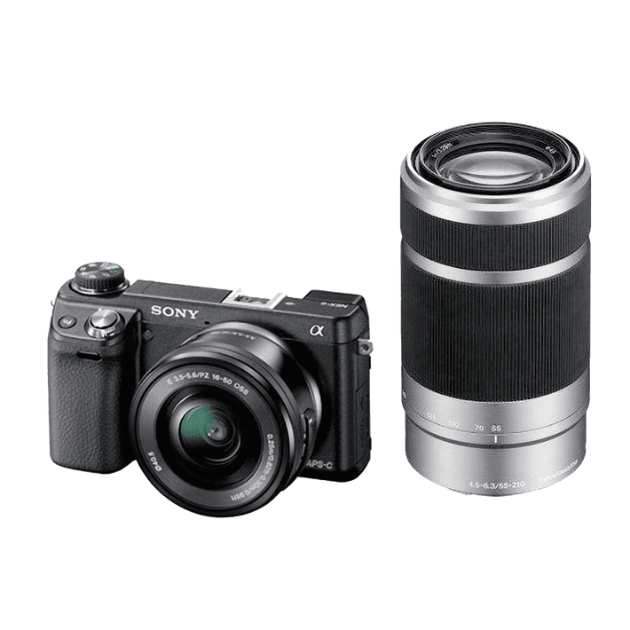 NEX-6 16.1 Mega Pixel Camera with SELP1650 and SEL55210 Lens, , product-image