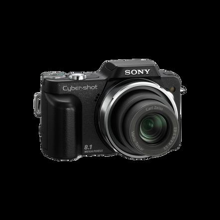 8.1 Megapixel H Series 10X Optical Zoom CyberShot (Black), , hi-res