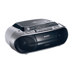 CD Radio Cassette Player (Silver)