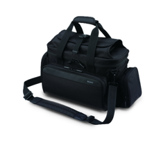 Soft carry case protects camcorder plus accessories against dust and scratches