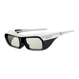 Small Active Shutter 3D Glasses for BRAVIA Full HD 3D TV (White)