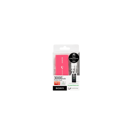 Portable USB Charger 3000mAH (Pink), , hi-res