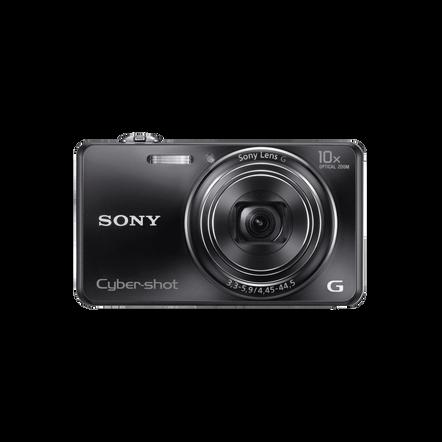18.2 Megapixel W Series 10X Optical Zoom Cyber-shot Compact Camera (Black)