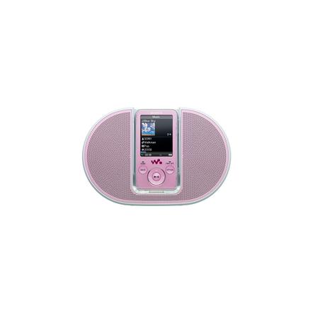 4GB E Series Video MP3/MP4 Walkman (Pink) + Speaker