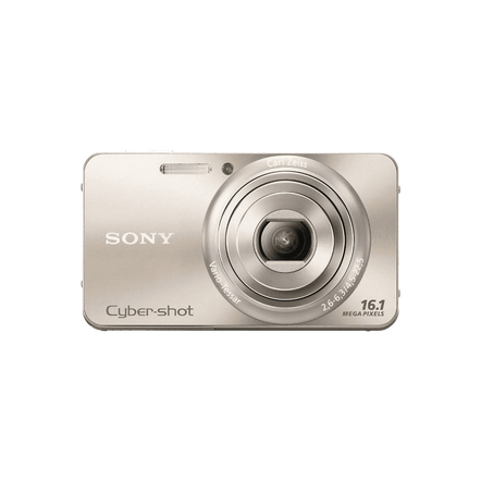 16.1 Megapixel W Series 5X Optical Zoom Cyber-shot Compact Camera (Gold), , hi-res