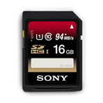 16GB SDHC UHS-1 Class 10 Memory Card UX Series, , hi-res