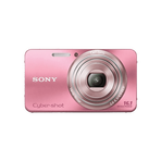 16.1 Megapixel W Series 5X Optical Zoom Cyber-shot Compact Camera (Pink), , hi-res