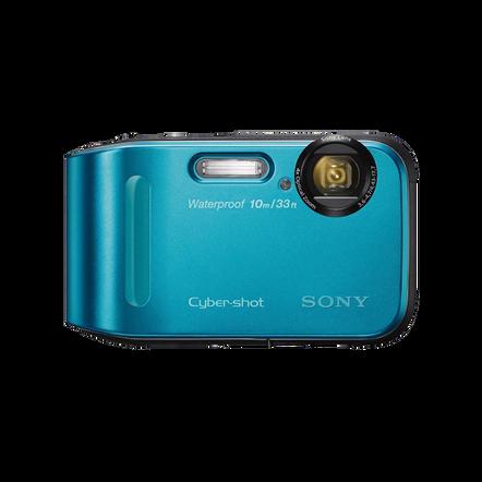 16.1 Megapixel T Series 4X Optical Zoom Cyber-shot Compact Camera (Blue), , hi-res