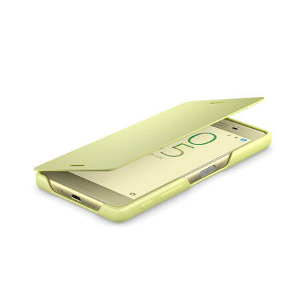 Style Cover Flip SCR52 for Xperia X (Lime Gold), , hi-res