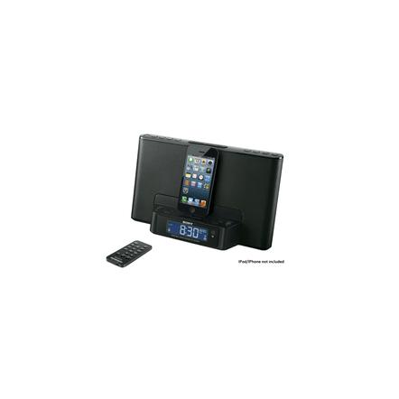 iPod and iPhone Dock Clock Radio (Black)