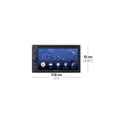 "6.4"" Android DVD Receiver with BLUETOOTH 