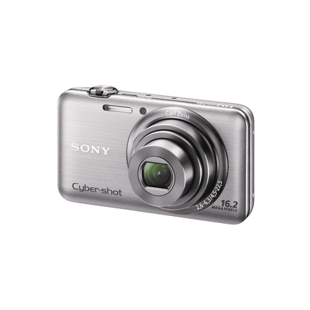16.2 Megapixel W Series 5X Optical Zoom Cyber-shot Compact Camera (Silver), , hi-res