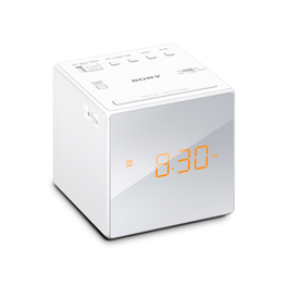 Single Alarm Clock Radio (White)