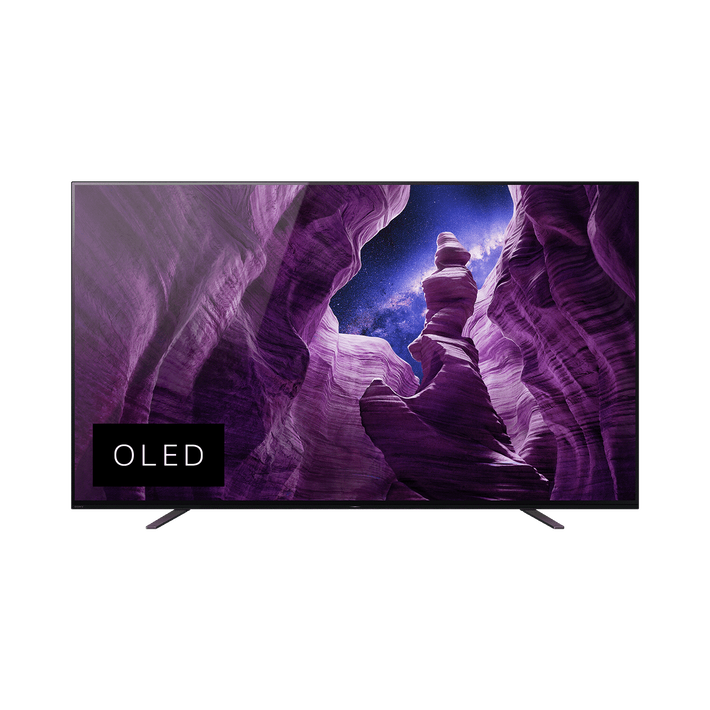 "55"" KD-55A8H OLED 4K Android TV , , product-image"