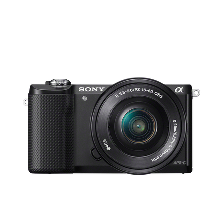 a5000 E-mount Camera and 16-50 mm Zoom Lens with 8 GB Memory Card