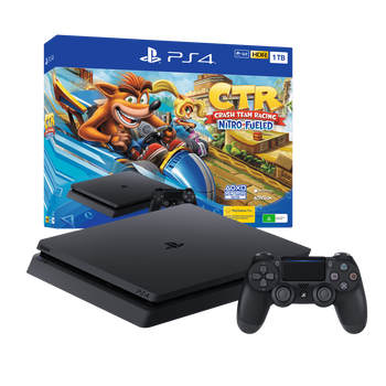 PlayStation4 Slim 1TB Console with Crash Team Racing Nitro-Fueled Bundle, , lifestyle-image