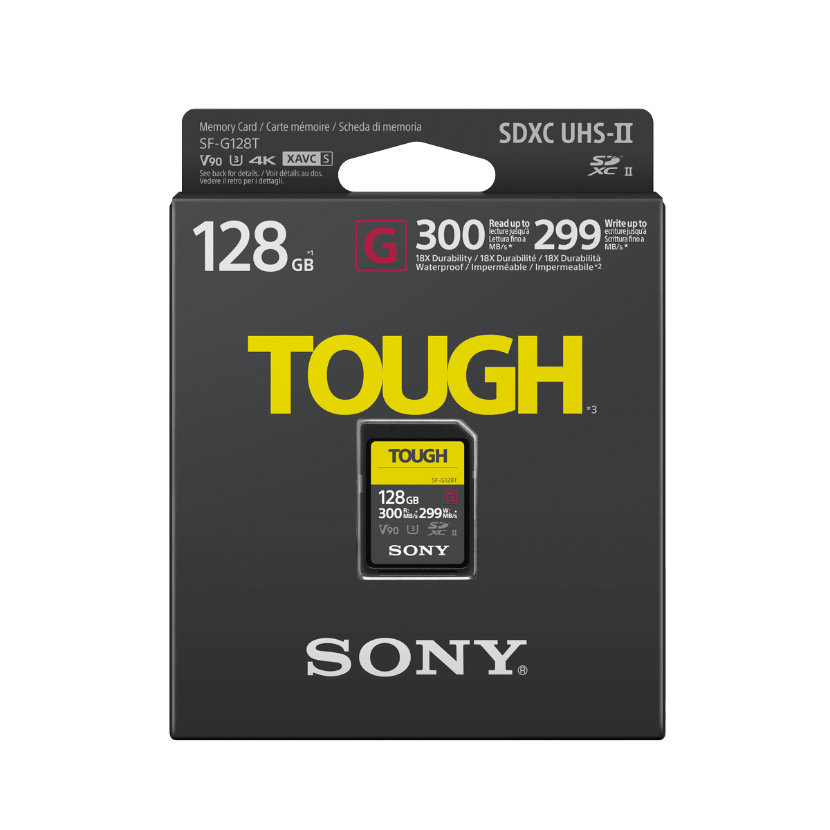 128GB SF-G Tough Series UHS-II SD Memory Card, , product-image