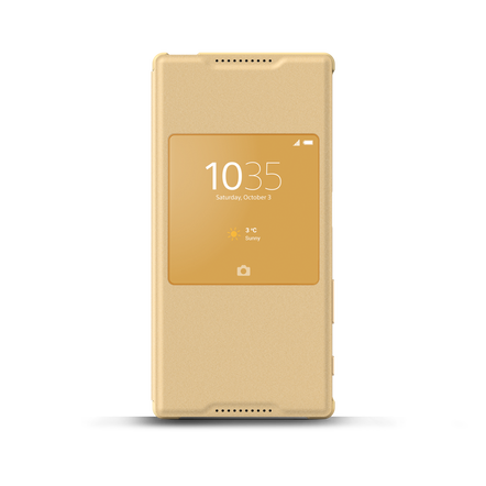 Smart Cover Stand SCR42 for Xperian Z5 (Gold), , hi-res