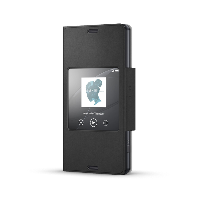 Style Cover Window for Xperia Z3 Compact - SCR26 (Black), , product-image
