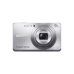 16.1 Megapixel W Series 10X Optical Zoom Cyber-shot Compact Camera (Silver), , hi-res