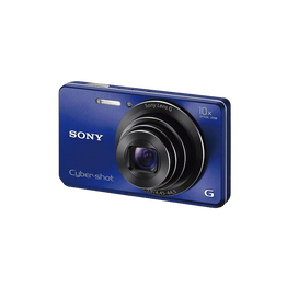 16.1 Megapixel W Series 10X Optical Zoom Cyber-shot Compact Camera (Blue)