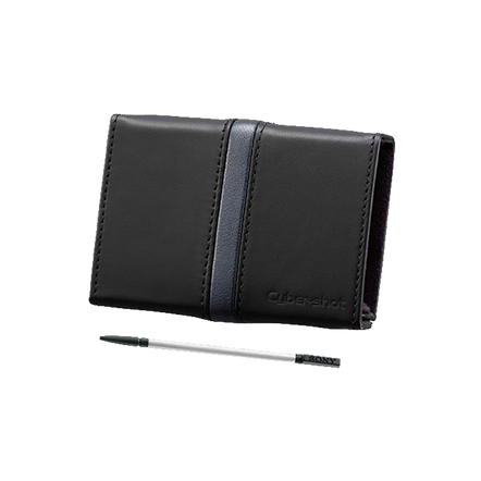 Leather Carrying Case Included with Stylus (Black)