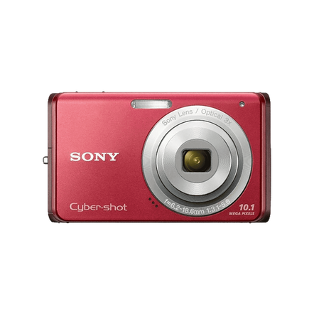 10.1 Megapixel W Series 3X Optical Zoom Cyber-shot Compact Camera (Red)