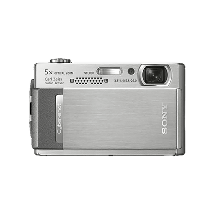 10.1 Megapixel T Series 5X Optical Zoom Cyber-shot Compact Camera (Silver), , hi-res