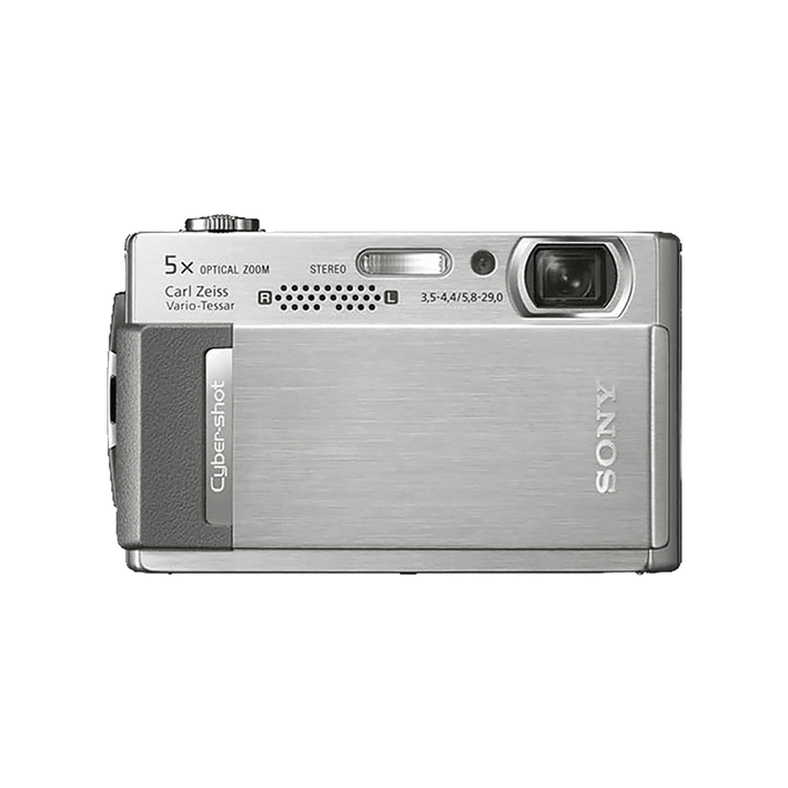 10.1 Megapixel T Series 5X Optical Zoom Cyber-shot Compact Camera (Silver), , product-image