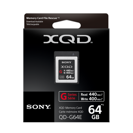 XQD G Series 64GB Memory Card, , hi-res